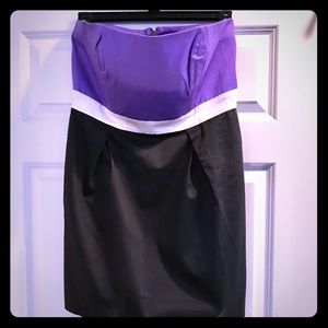 NWT FRENCH CONNECTION CORSET STRAPLESS DRESS SZ 12